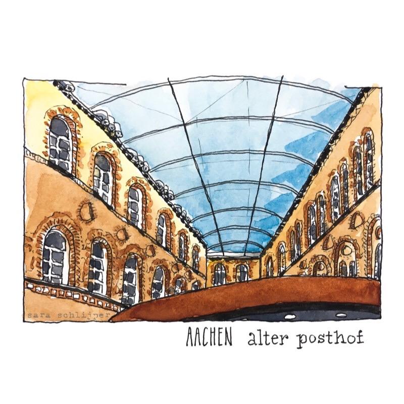 Tekening Alter Posthof Aken