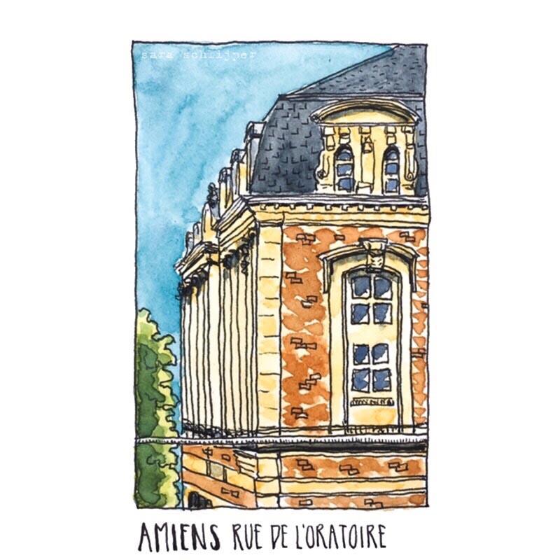 Tekening Rue de l'Oratoire Amiens