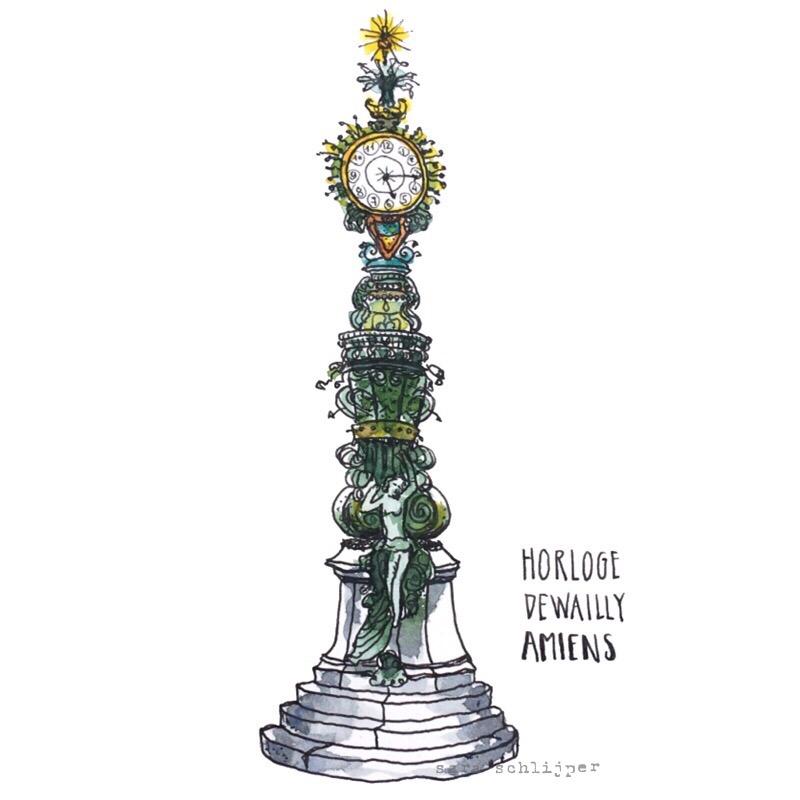 Tekening Horloge Dewailly Amiens