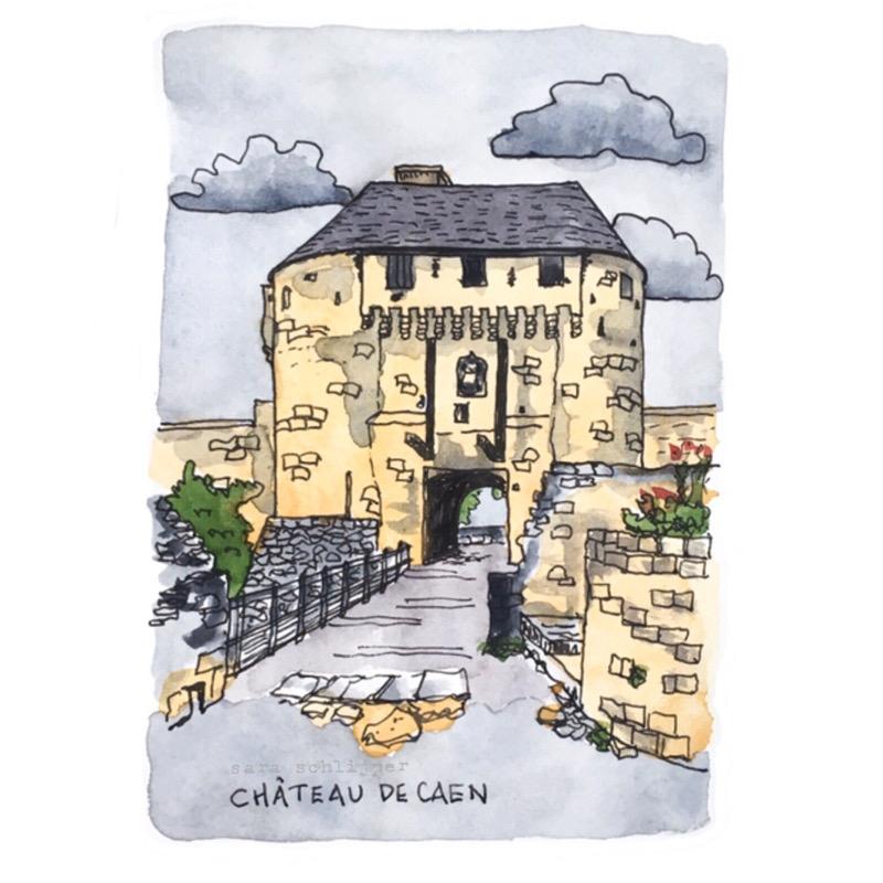 Tekening Château de Caen