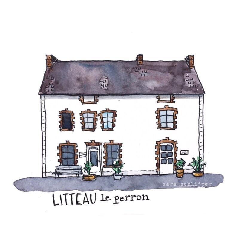 Tekening Le Perron Litteau