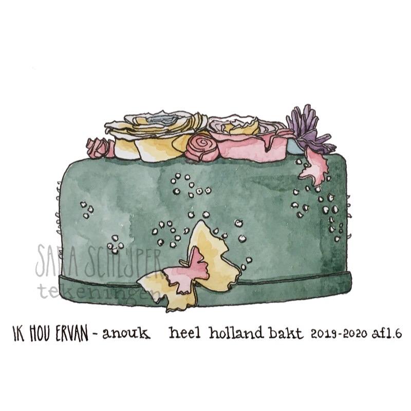 Tekening taart van Anouk - spektakelstuk - #HHB afl. 6
