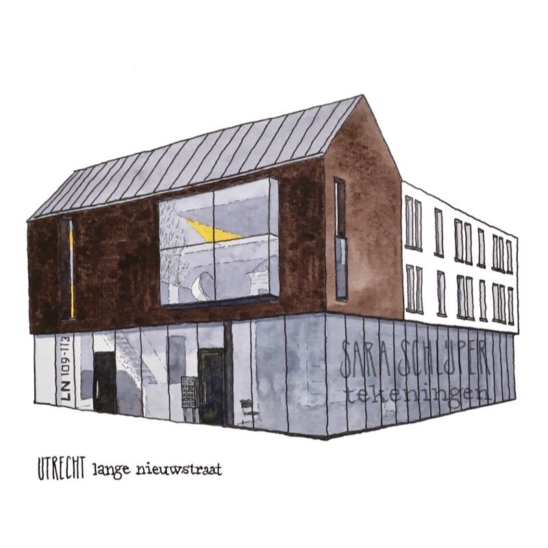 Tekening Lange Nieuwstraat 109-113 Utrecht