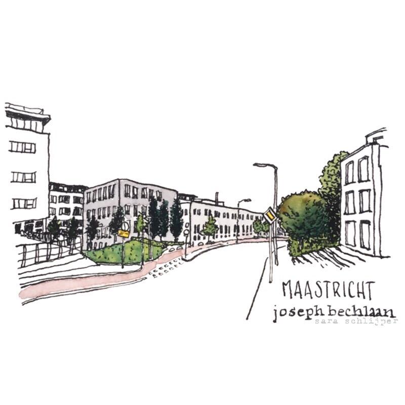 Tekening Joseph Bechlaan Maastricht
