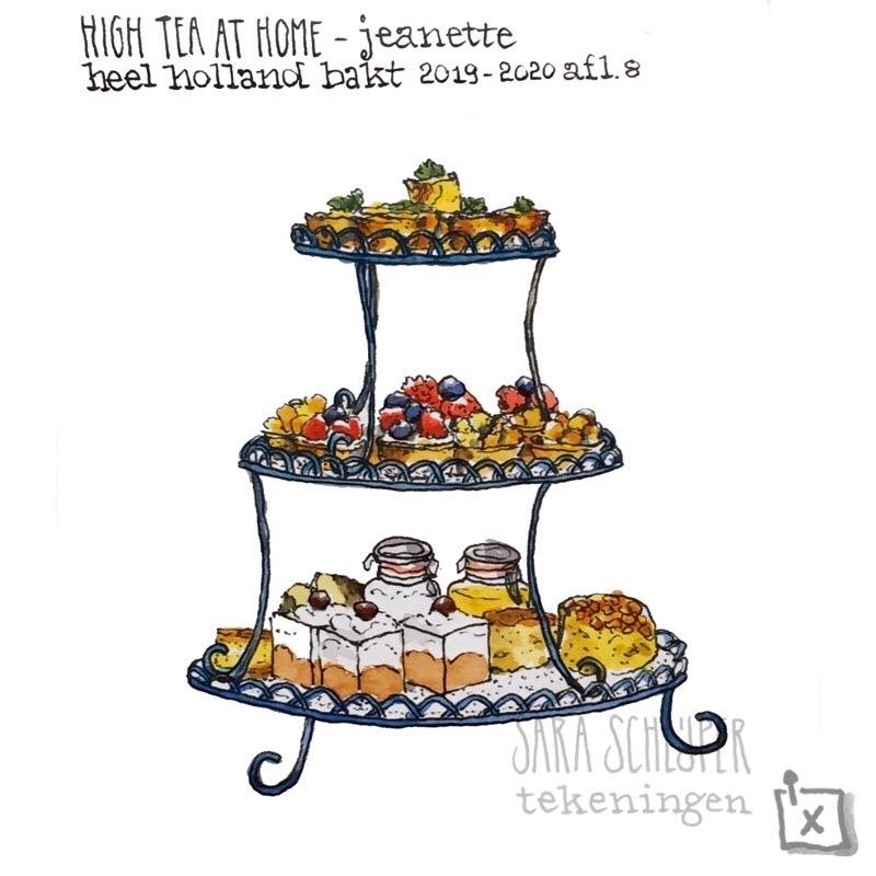 Tekening taart van Jeanette - spektakelstuk - #HHB afl. 8