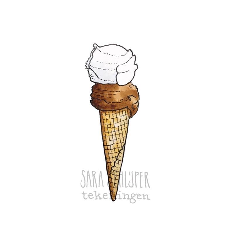 Tekening ijsje