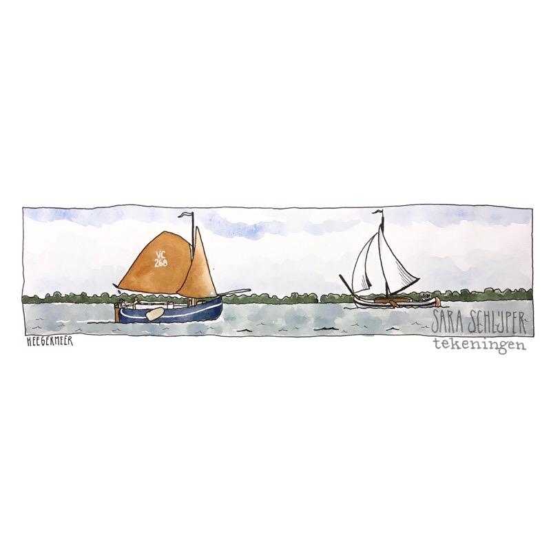 Tekening Heegermeer
