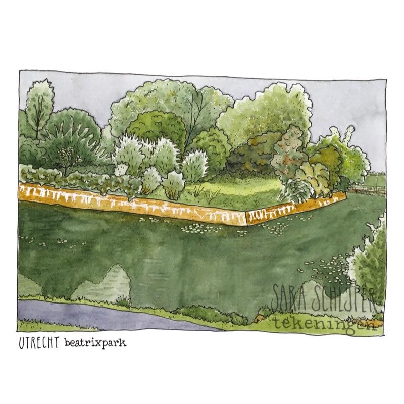 Tekening Beatrixpark - Utrecht