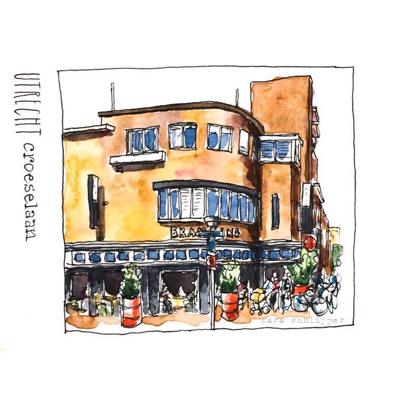 Tekening Restaurant de Branding - Croeselaan - Utrecht