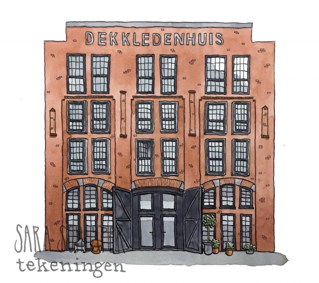 Tekening Muntkade Utrecht