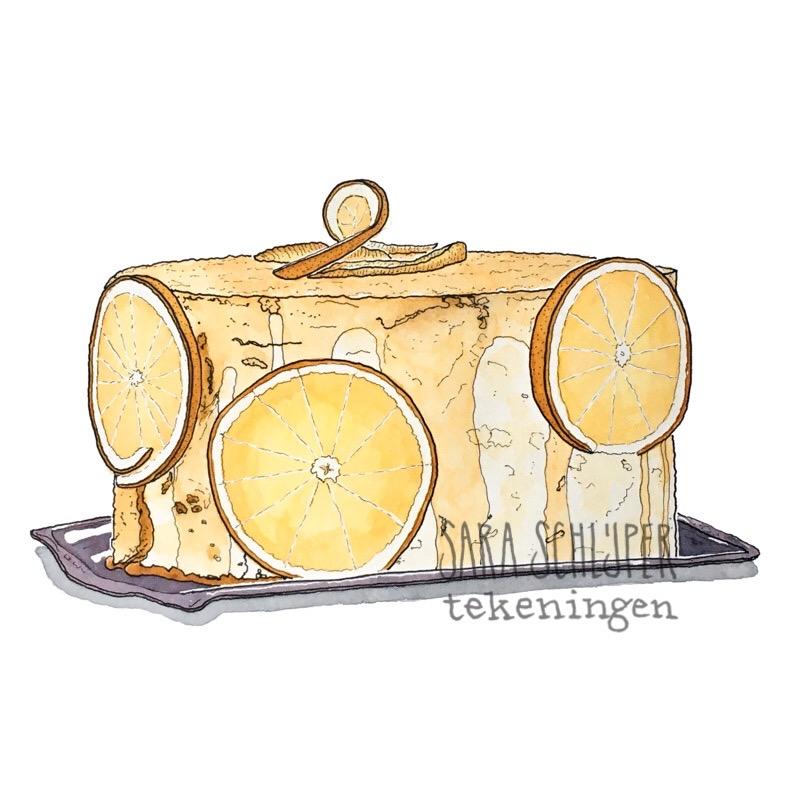 tekening 'taartje van suzette' van thijs - heel holland bakt s8a5