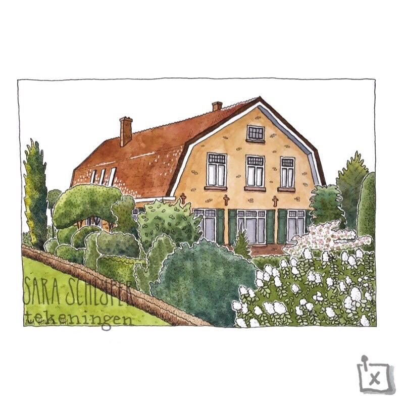 tekening huis broekermolen - putten
