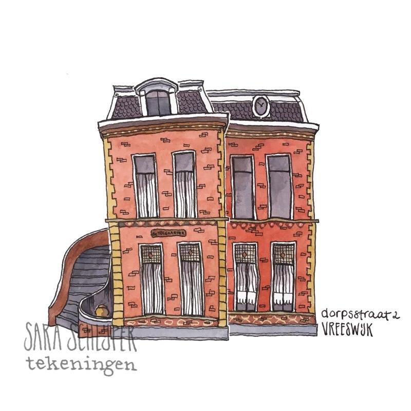 Tekening Dorpsstraat - Vreeswijk