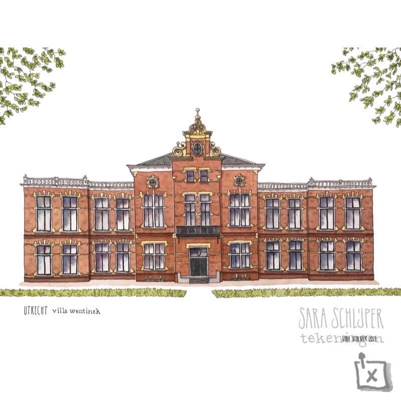 tekening villa wentinck - jutfaseweg - utrecht