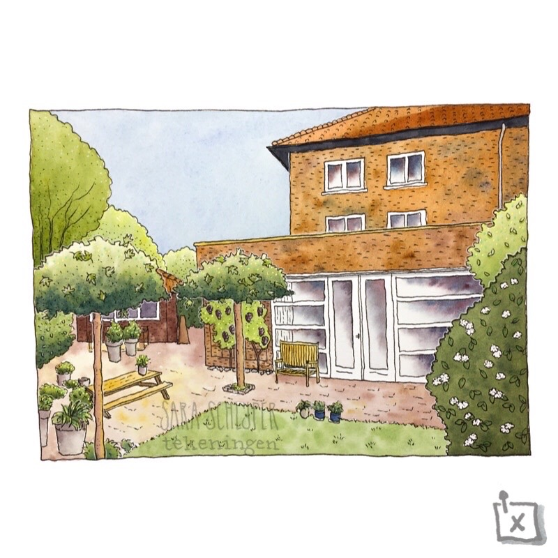 tekening huis ergens in utrecht
