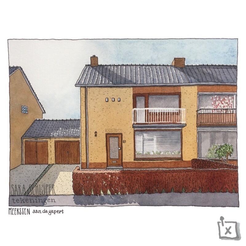 Tekening huis Aan de Gapert - Meerssen