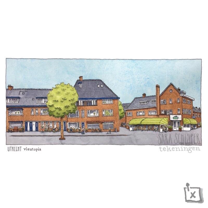Tekening Vleutenseweg - Utrecht