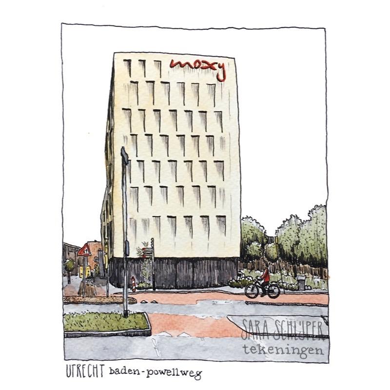 Tekening Baden-Powellweg - Utrecht