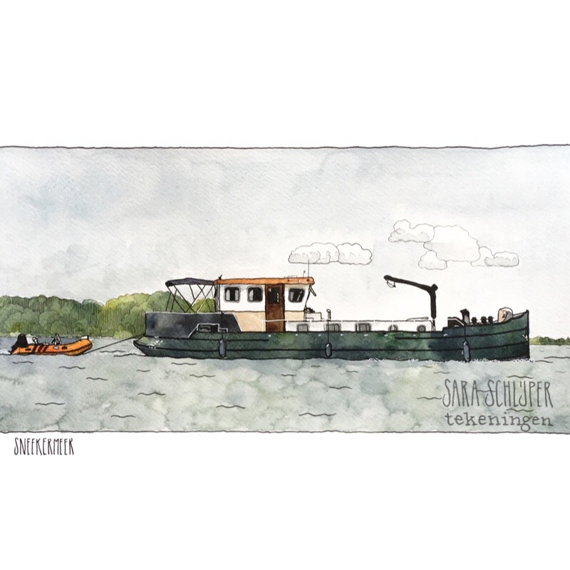 Tekening boot Sneekermeer