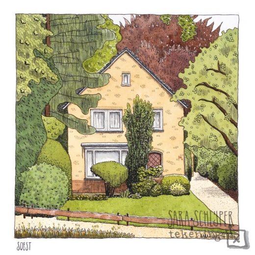 tekening huis in soest