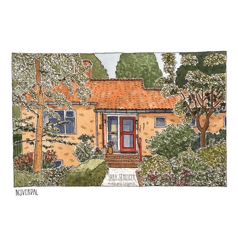 tekening huis in nijverdal