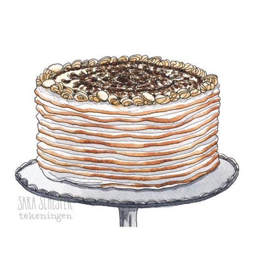 Tekening taart polonaise van Gwenn - HHB