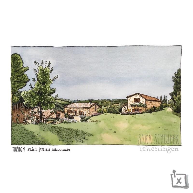 Tekening Théron - Saint Julien Labrousse