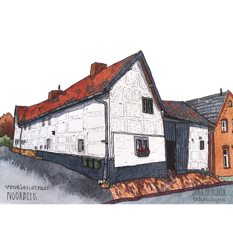 tekening vroelenstraat - noorbeek